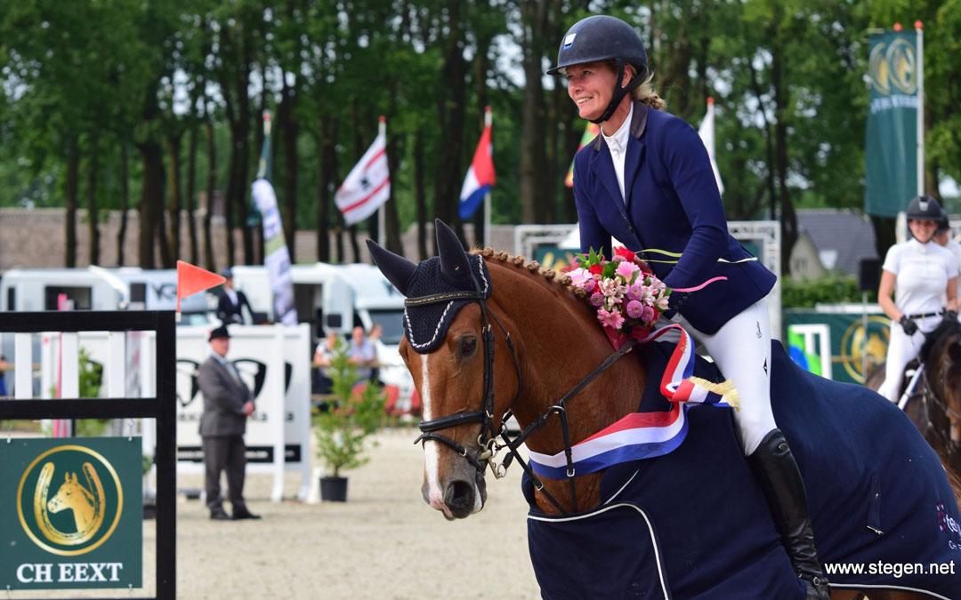 Hester Klompmaker vooraan in Lier