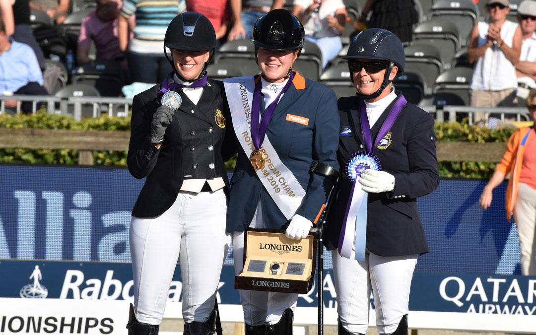 Huldiging medaillewinnaars para-dressuur