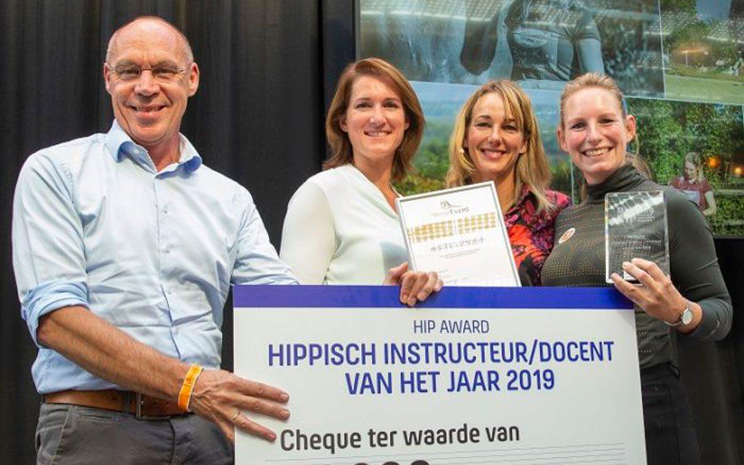 Hester Bransen 'Hippisch Docent/ Instructeur van het jaar'