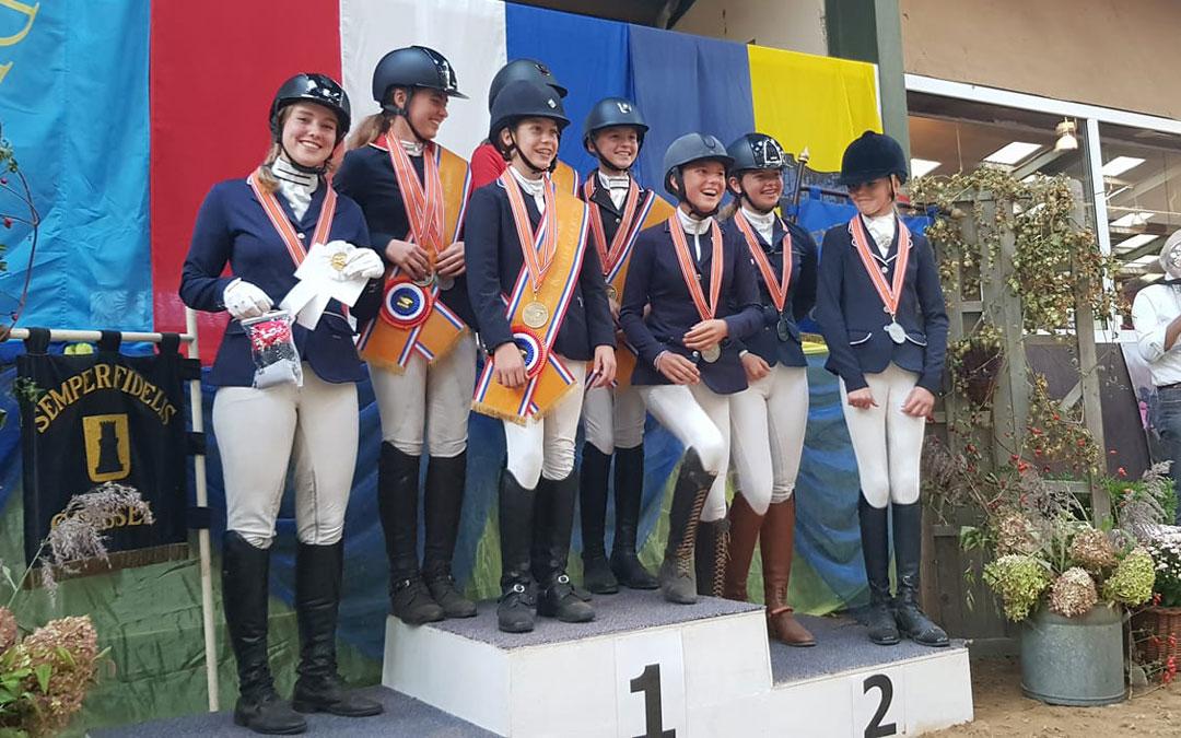 Amazones domineren KNHS kampioenschap eventing pony's