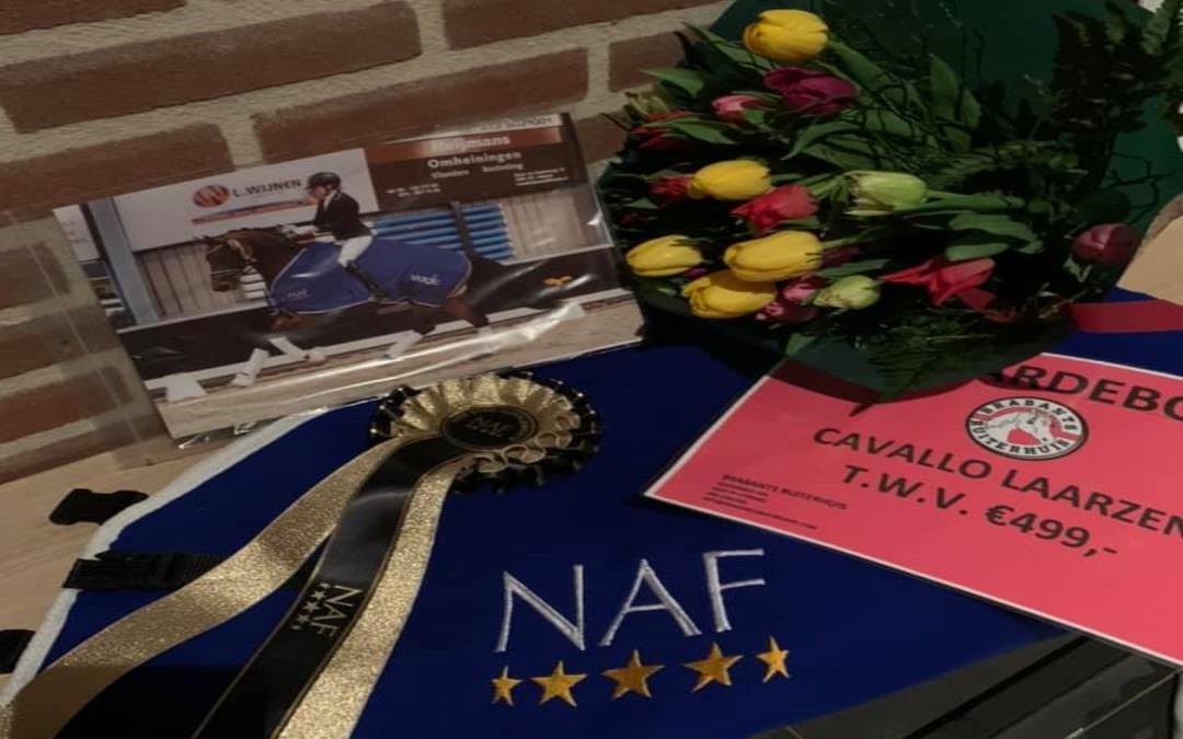 Lucky Luke (v. Desperado) wint NAF Dressuur Talent Berlicum