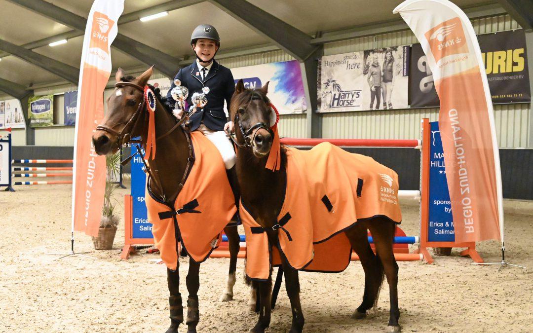Regiokampioenschappen springen in Hillegom mooie afsluiting indoorseizoen