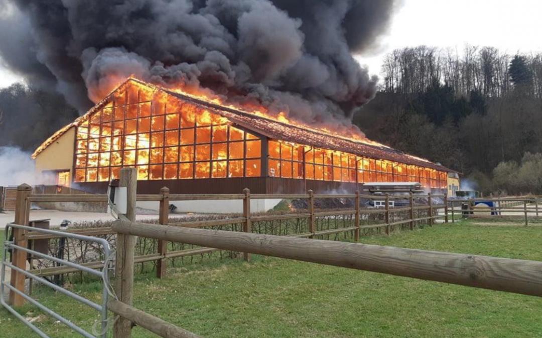 Enorme brand bij Gerfried Puck