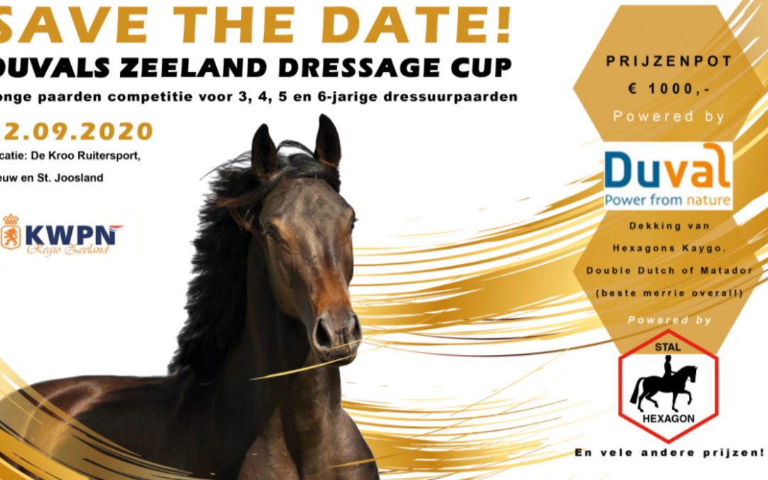 Regio Zeeland gaat voor de Duvals Zeeland Dressage Cup