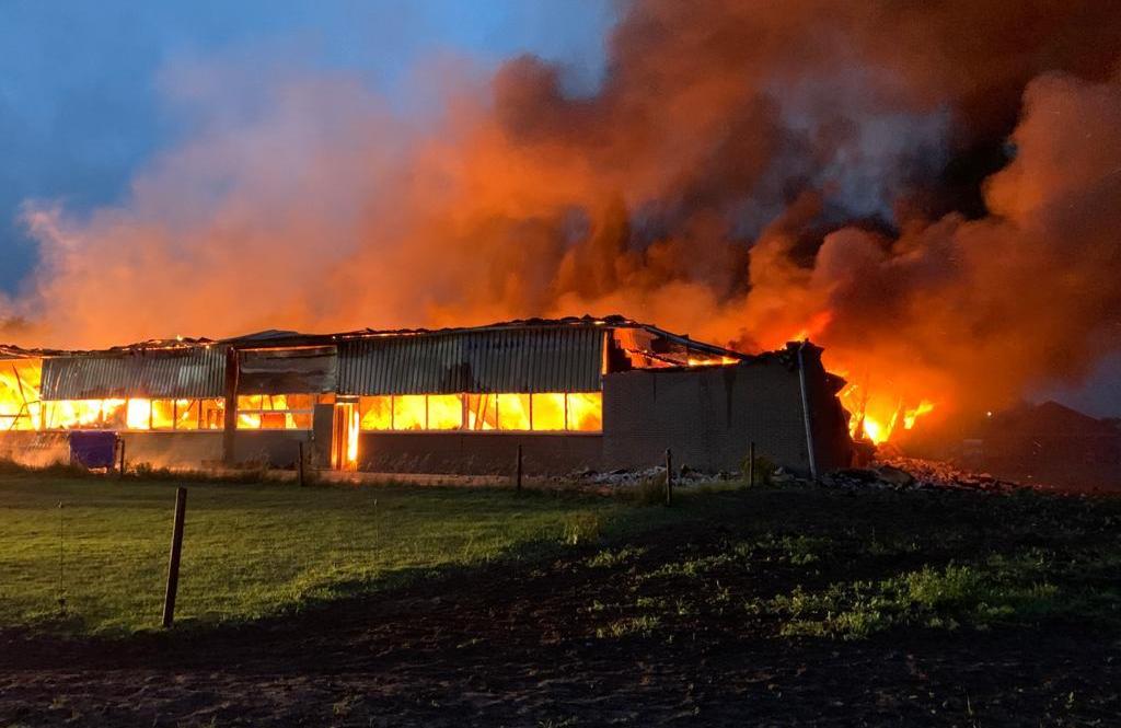 Dominick dekens verliest volledige voorraad door brand