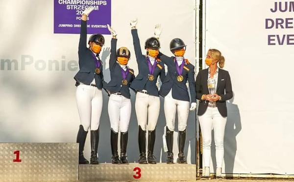 EK-brons voor Nederlands ponydressuurteam